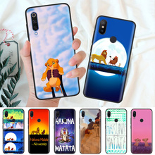 Black Silicone Case Bag Cover for Xiaomi Mi A1 A2 8 Lite Play Redmi Note 7 6 6A 5 Plus 4X Pro Poco F1 Hakuna Matata Lion King стоимость