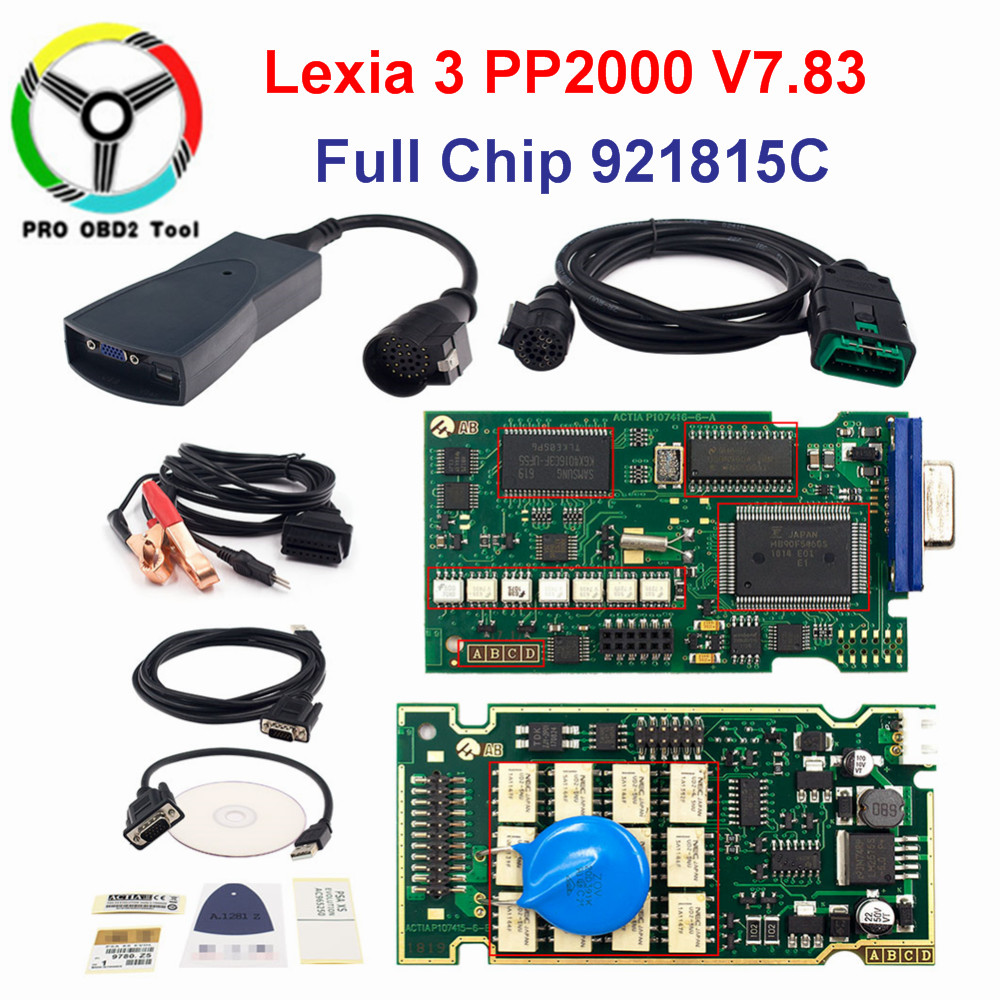 Neueste PP 2000 Lexia 3 V48 V25 Für Citroen Peugeot Auto Neue Lexia-3 PP2000 Diagnose Scanner Tool Mit Diagbox V7.83 VOLLE Chip