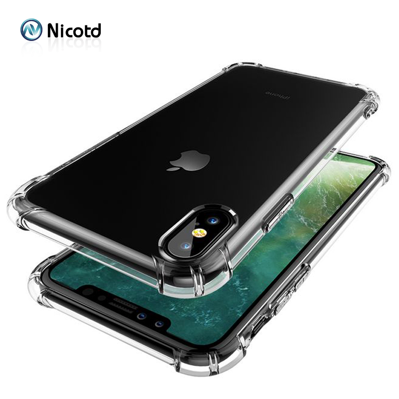 Nicotd TPU Case For iPhone XS Max Soft Case Clear Thin Cases For iPhone XS MAX XR X 7 PLUS 8 6S Case Crystal Silicone Cover bags (6)