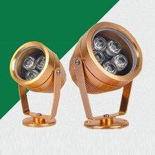 купить Outdoor waterproof garden landscape light Led projection lamp 3W/5W Red Green Blue IP65 LED Spot light lamp 12V AC DC дешево