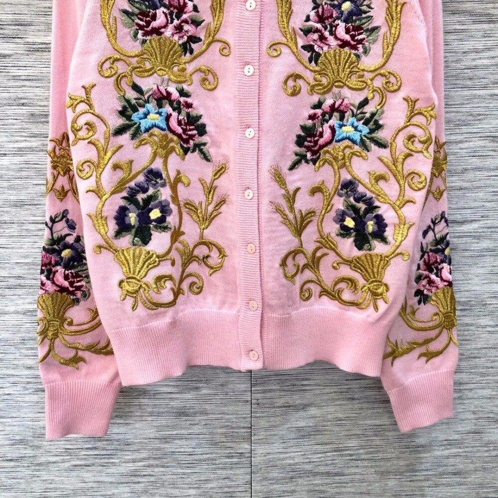 Printemps Femmes 05 Fleur Broderie Cardigan Mode Rmsx 2019 Chandail 1 p1qdOww