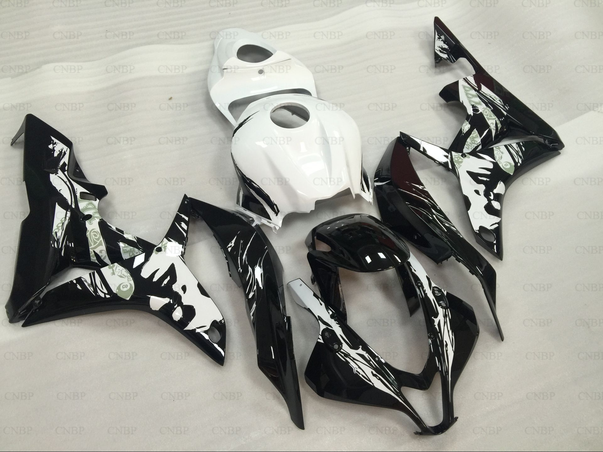 Girl Weman White Black Bodywork For CBR600RR CBR600 CBR 600 RR 2007 2008 07 08 Fairing Body Kit