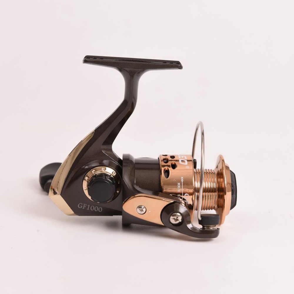 LEO moulinets de pêche roue rotative GF1000/2000/3000/4000/5000 série rapport de vitesse 5.2: 1 roulement 3BB droite gauche Swap engins de pêche