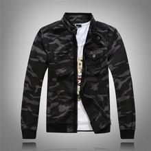 Military Style Men Camo Denim Jacket For Men Camouflage Biker Jeans Jacket Male Spring Autumn Men's Jean Jacket Coat Pockets