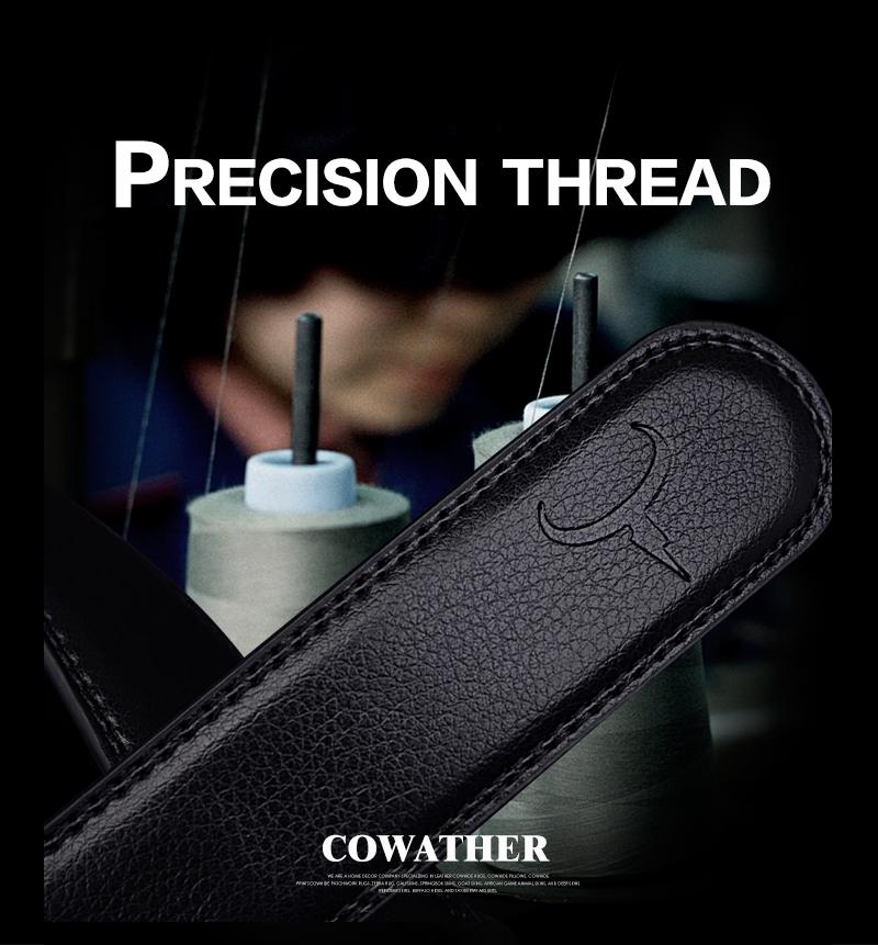 حزام COWATHER  جلد طبيعي للرجال ذو جودة عالية 4