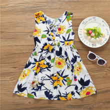 2018 Summer Hugely Popular Little Girl's One-piece Dress Multifarious Flowers Design High Quality and Performance Price Ratio