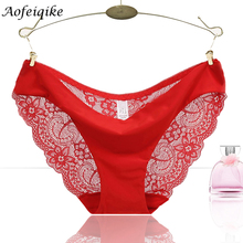 s-2xl!hot sale! l women's sexy lace panties seamless cotton breathable panty hollow briefs plus size girls underwear #981