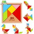 2016 Novo Chegada Hot Intelectual Sete Peças Jigsaw Puzzle brinquedos Montessori de Ensino De Madeira Brinquedos Educativos Para Crianças