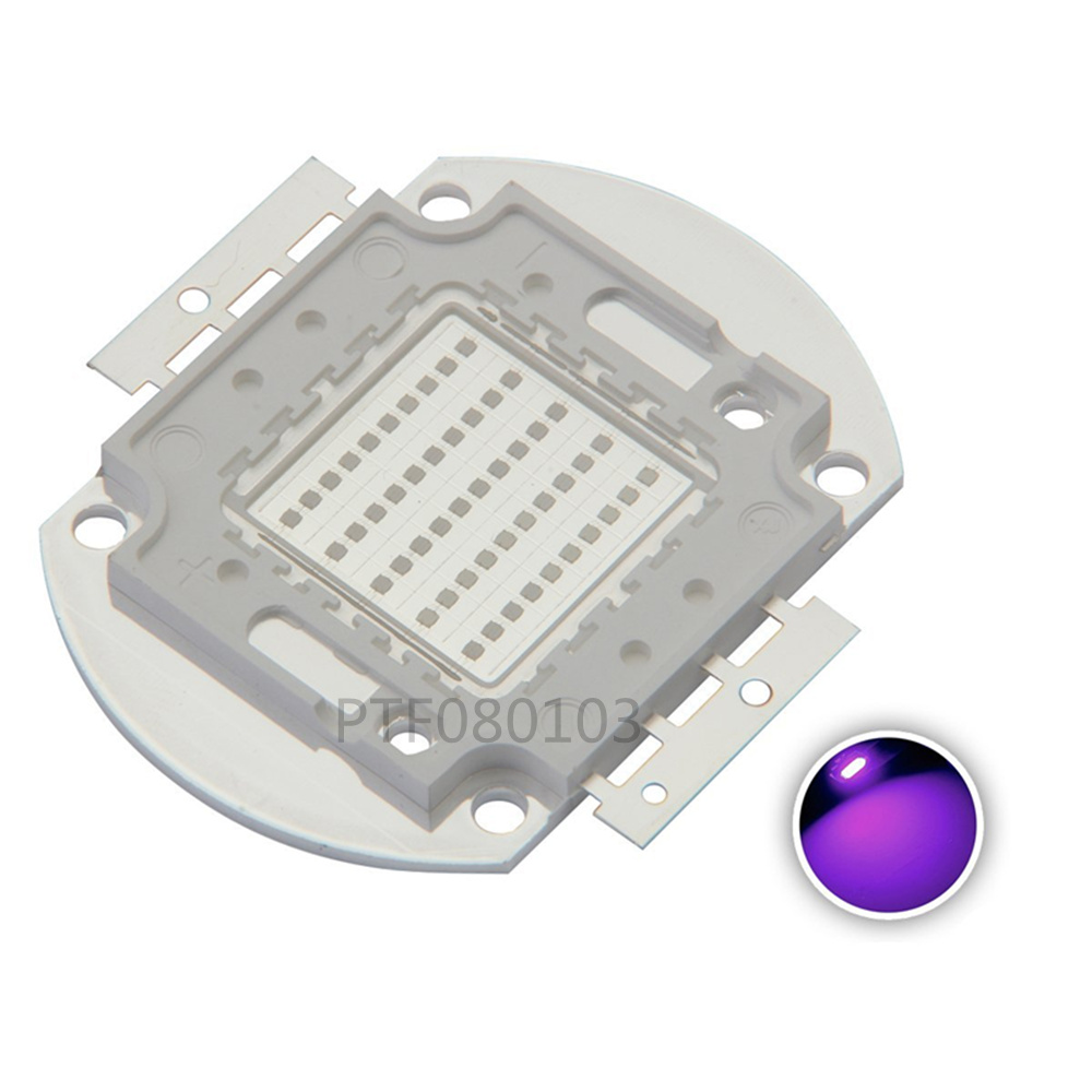 UV Purple LED Ultraviolet Bulbs Lamp Chips 365nm 375nm 380nm 385nm 395nm 400nm 405nm 50W High Power Light uv purple led ultraviolet bulbs lamp chips 365nm 375nm 380nm 385nm 395nm 400nm 405nm 3w 5w 10w 20w 30w 50w 100w high power light