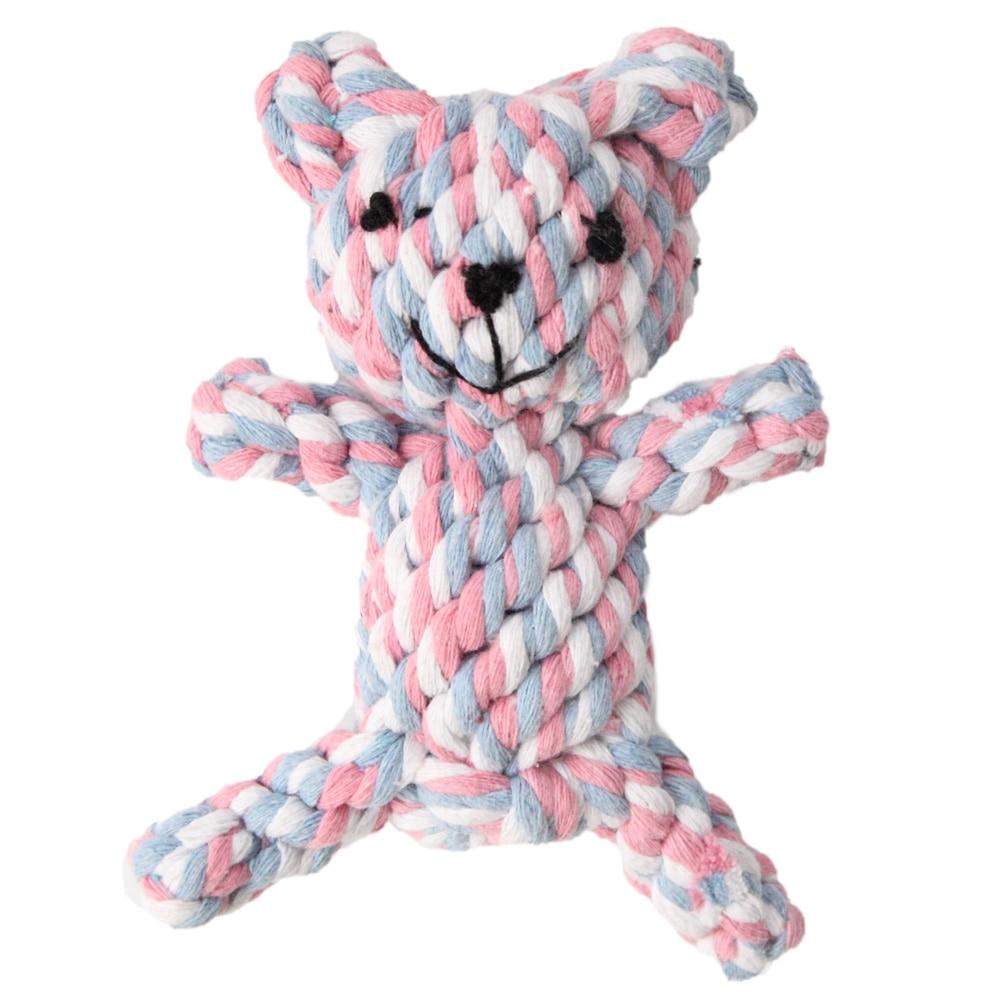 Dog Chew Toy Light Color Bear Doll Hemp Rope Tug Rope