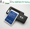 High Quality Dock Charger+100% NEW 3000mAh Battery For HOMTOM HT17 Li-ion Battery For HOMTOM HT17 Pro Mobile Phone Bateria