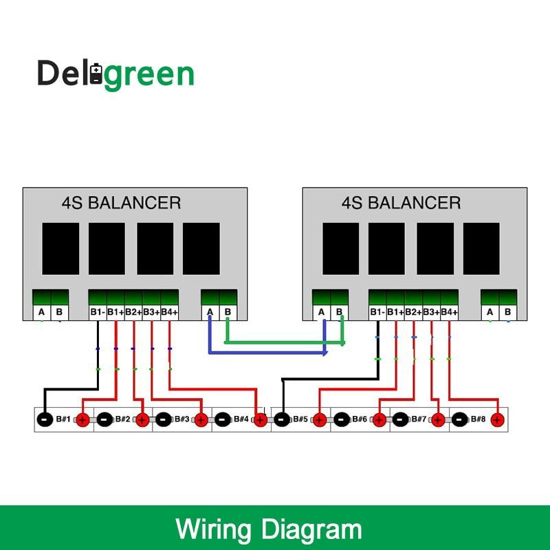 8 S/24 V QNBBM batería de litio equilibrador BMS para LIFEPO4, LTO NCM LMO 18650 DIY paquete - 5
