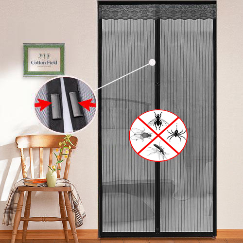 Hot Magic Mesh Hands Free Instant Screen Door Kit KEEPS BUGS OUT Freeshipping