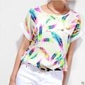Gran Tamaño de La Camiseta XXXXL 6XL Imprimir Camisetas y Tops Casual Mujer Ropa barata de China Roupas Verano Moda Mujeres de La camiseta Tops Tee