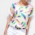 T-Shirt Tamanho grande XXXXL 6XL Impressão Camisetas y Tops Casuais Mujer Roupas baratas China Roupas Da Moda Verão t Shirt Mulheres Tops Tee