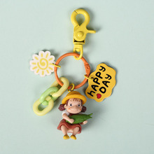 Japanese Anime Miyazaki My Neighbor Totoro Mei Action Figures Doll Keychain Key Ring for Women Girl Handbag Backpack Jewelry