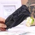 Mujer Hairbands Striped Nudo Cruz Diadema Elegante Amplia Venda Del Pelo de Headwear Accesorios Elegante SM019