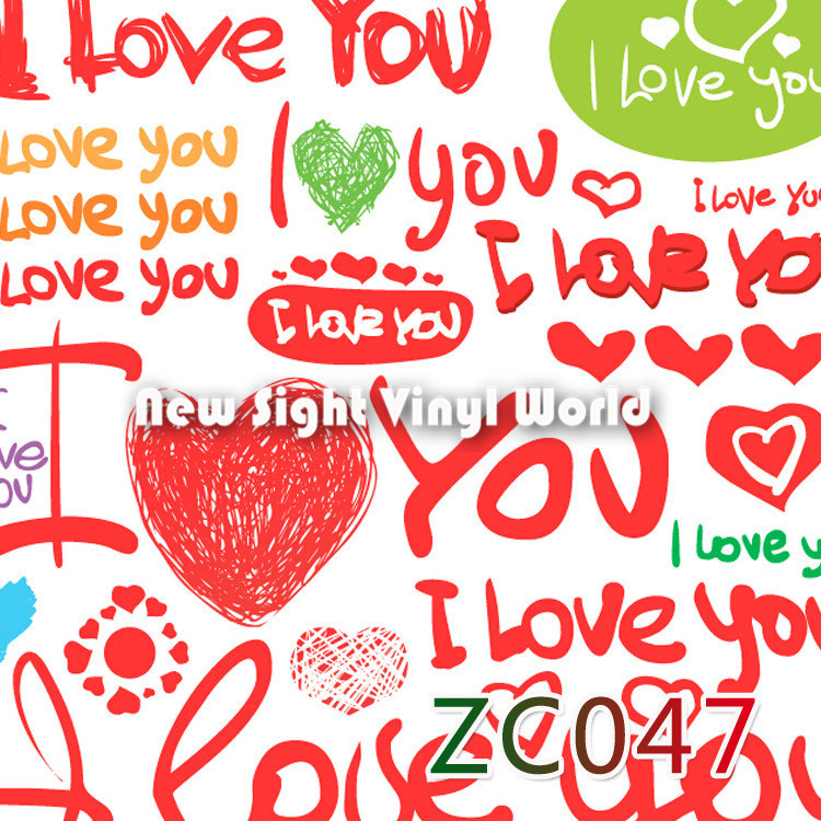 I love you sticker bomb vinyl sheet sticker bombing sheet roll bubble free auto graphics size1 5030m roll in car stickers from automobiles motorcycles