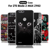 EiiMoo Cartoon Silicone Case For ZTE Blade Z Max Z982 Case 3D Relief Soft Cover For ZTE Blade Z Max Pro 2 / Sequoia Z928 Case