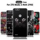 EiiMoo Cartoon Silicone Case For ZTE Blade Z Max Z982 Case 3D Relief Soft Cover For ZTE Blade Z Max Pro 2 / Sequoia Z928 Case