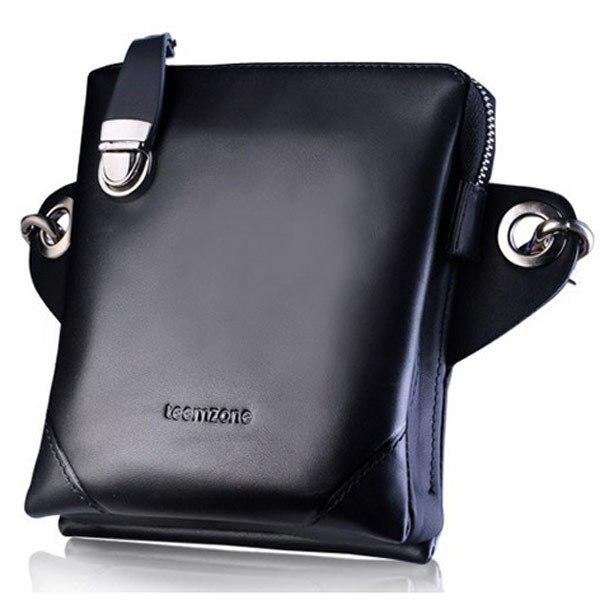 teemzone - Multi-Pack (Waist + Shoulder + Crossbody) Super Design Fashion Street Cowskin Leather Handbags Men's Bags J25