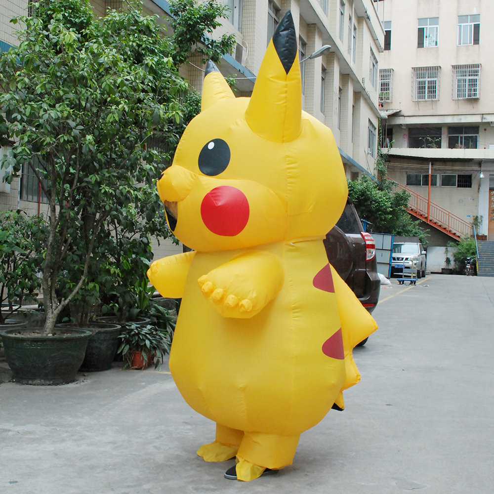 aliexpresscom buy inflatable pikachu cosplay carnaval adult pokemon costume halloween costumes for women girls kids mascot cosplay from reliable pokemon - Pikachu Halloween Costume Women