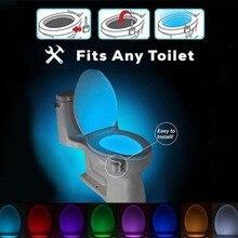 Litwod lights & lighting Energy-saving 8 Colors LED Toilet Night light Motion Activated LED Sensor WC Light