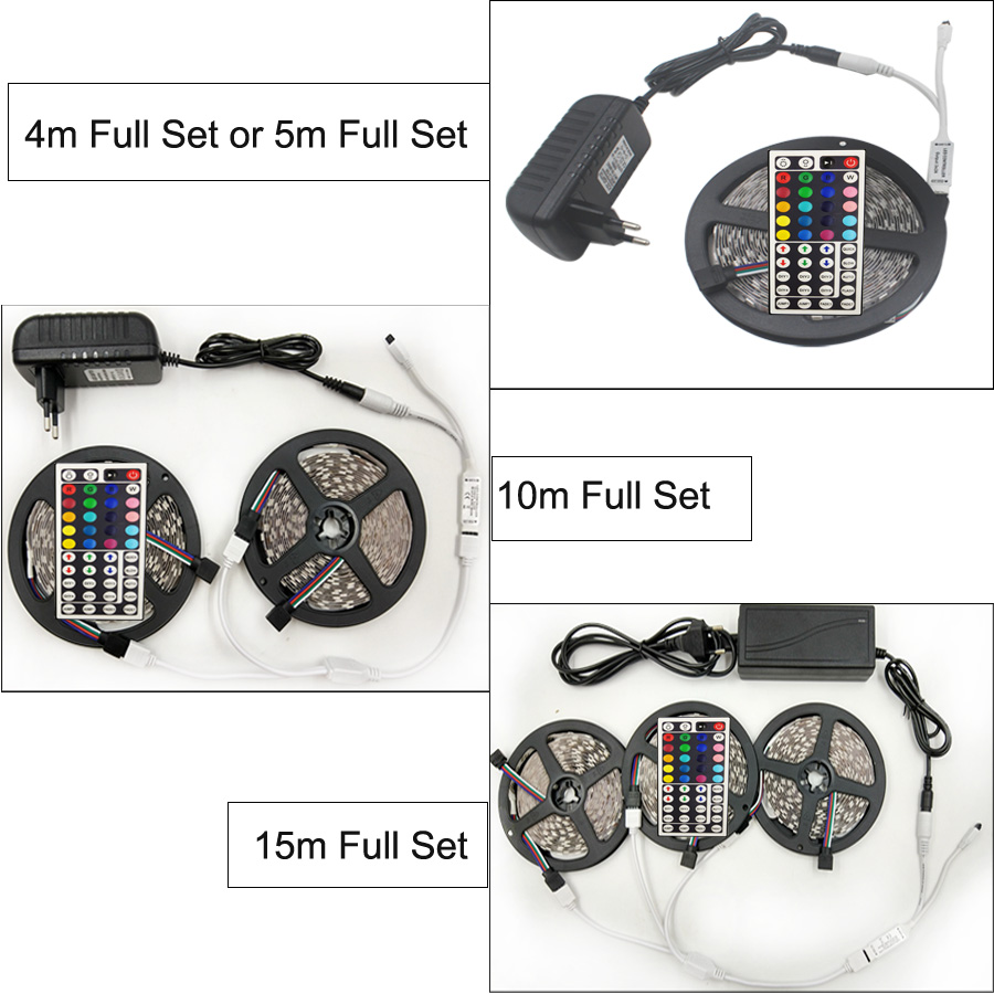 RiRi vandt RGB 5050 SMD Led Strip Light Fleksibel fita de 4M 5M 10M - LED Belysning - Foto 2