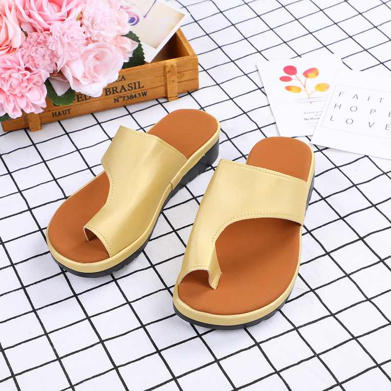 Women Shoes   Flat  Leather Sole Ladies Casual Soft  Toe Foot Correction Sandal Orthopedic Bunion Corrector