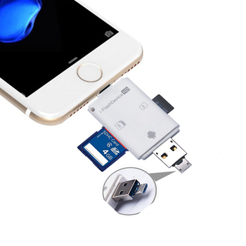 3in1 Micro USB OTG Card Reader Micro SD SDHC TF SD Card For iPhone x xs pro 11 8 6 7 plus/ipad pro air/LG/HTC Andrid OTG Phones