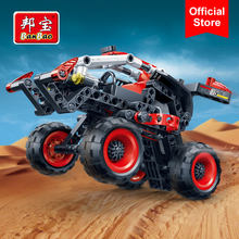 BanBao 6956 Off Road Racing Car Pull Back Vehicle Hightech Bricks Educational Building Blocks Kids Children Creative Model Toys(China)