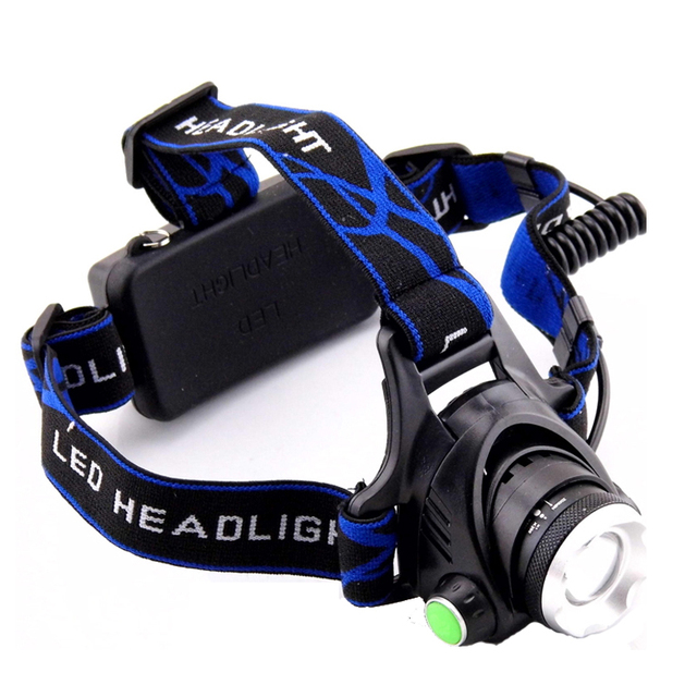 Waterproof Headlight  Q5 LED Headlamp Flashlight 18650 Battery high Powerful Head Lamp LED Torch for Hunting Fishing camping