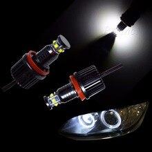 PA LED 1PAIR x 60W H8 LENS XB-D LED Halo Ring Angel Eye Headlight Lamp Bulbs For BMW F01 F02 F03