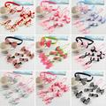 7PCS/Set kids Candy Color Girls Hair Accessories Dot Bow Hairpins Geometric Cute Baby Hair Accessories Bow knot Hair Clip D5