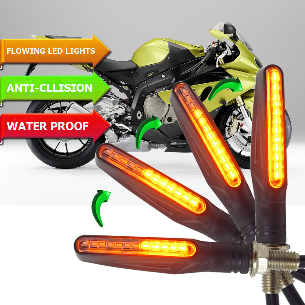 Flowing flicker led motorcycle turn signal Lights Blinkers clignotant moto FOR <font><b>yamaha</b></font> <font><b>fz16</b></font> stop motorcycle harley <font><b>parts</b></font> cb1000r image
