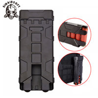 10 Rounds ABS Tactical Pouch Reload Holder Molle Pouch For 12 Gauge Magazine Pouch Ammo Round Cartridge Holder