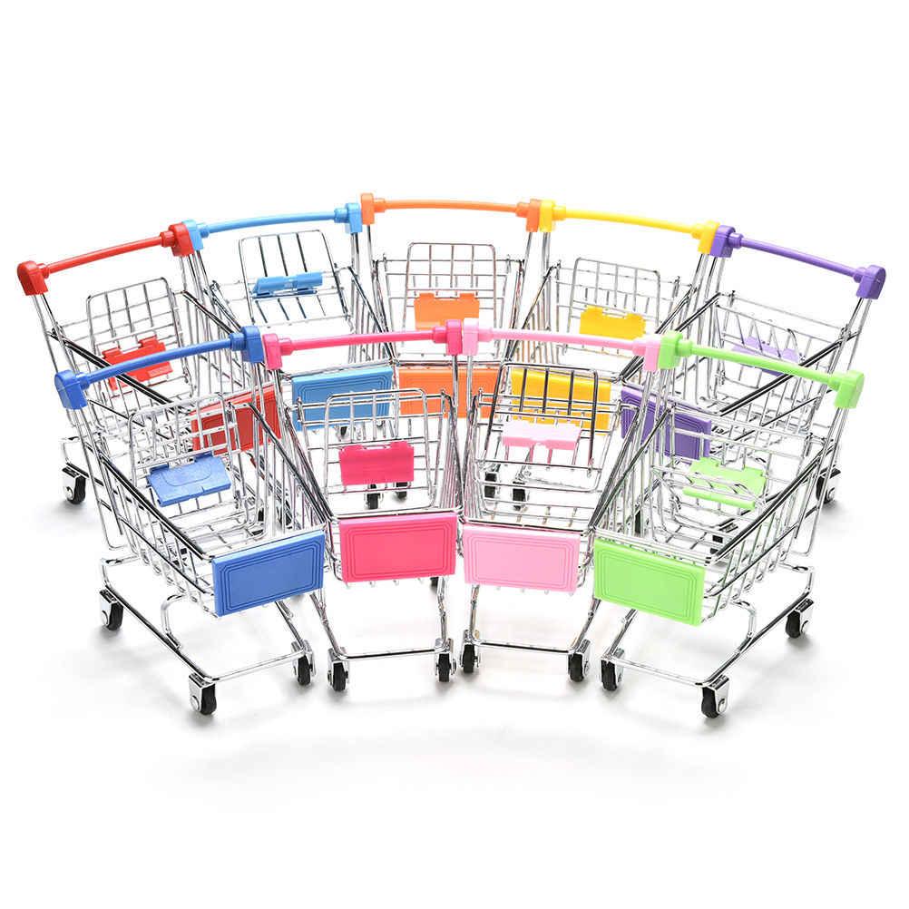 1pc Neue Bunte Lustige Mini Supermarkt Warenkorb Trolley Haustier Vogel Papagei Hamster Spielzeug Lagerung Telefon Halter Baby Spielzeug