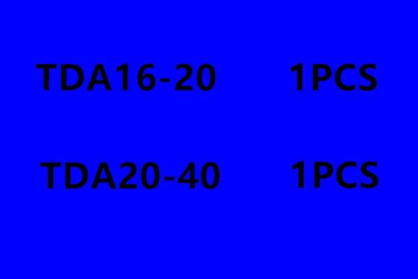 TDA16 20 TDA20 40 Rod aluminum alloy standard cylinder pneumatic components