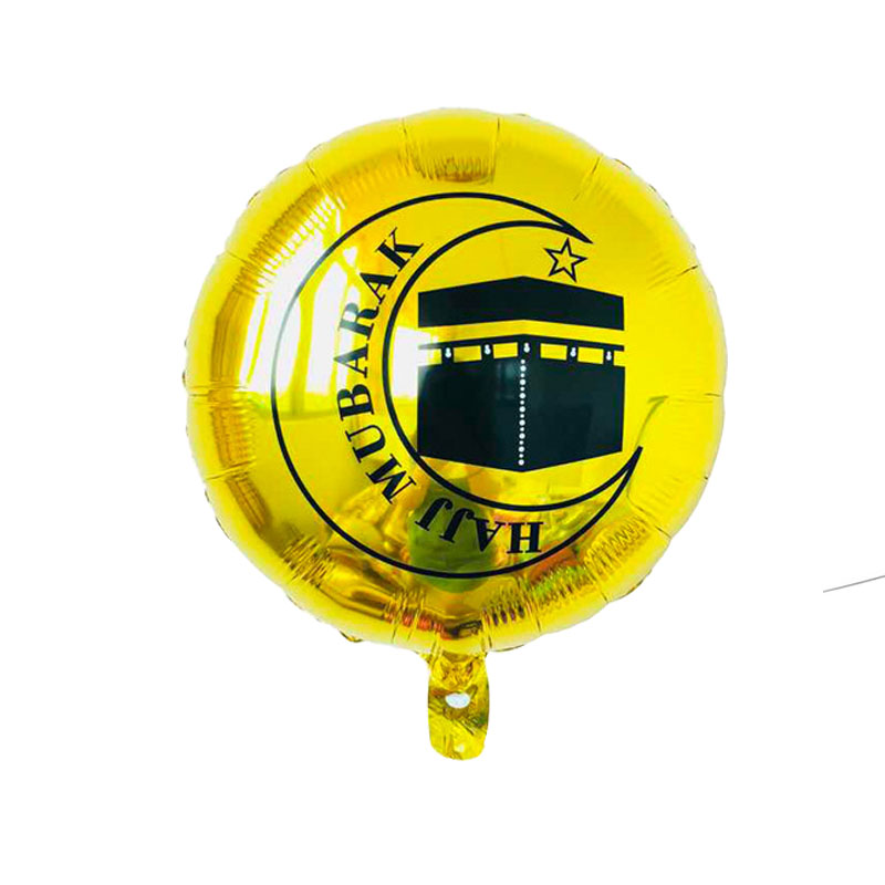 50pcs 18inch Eid Al-fitr Round Foil Balloons Eid Mubarak Decorations Hajj Mubarak Helium Air Balloon Inflatable Toys Supplies Less Expensive Home & Garden