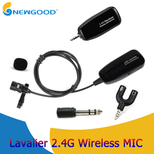 Lavalier 2.4G Wireless Microphone Clip Lapel MIC Professional Microphones for Mobile Phone Loudspeaker PC Computer Meeting high end uhf 8x50 channel goose neck desk wireless conference microphones system for meeting room