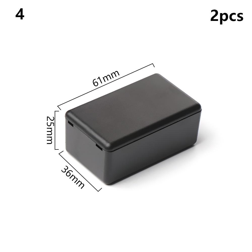 2 шт. водонепроницаемый черный DIY корпус чехол для инструментов ABS пластик проект коробка чехол для хранения корпус коробки электронные принадлежности - Цвет: 2pcs Style 4