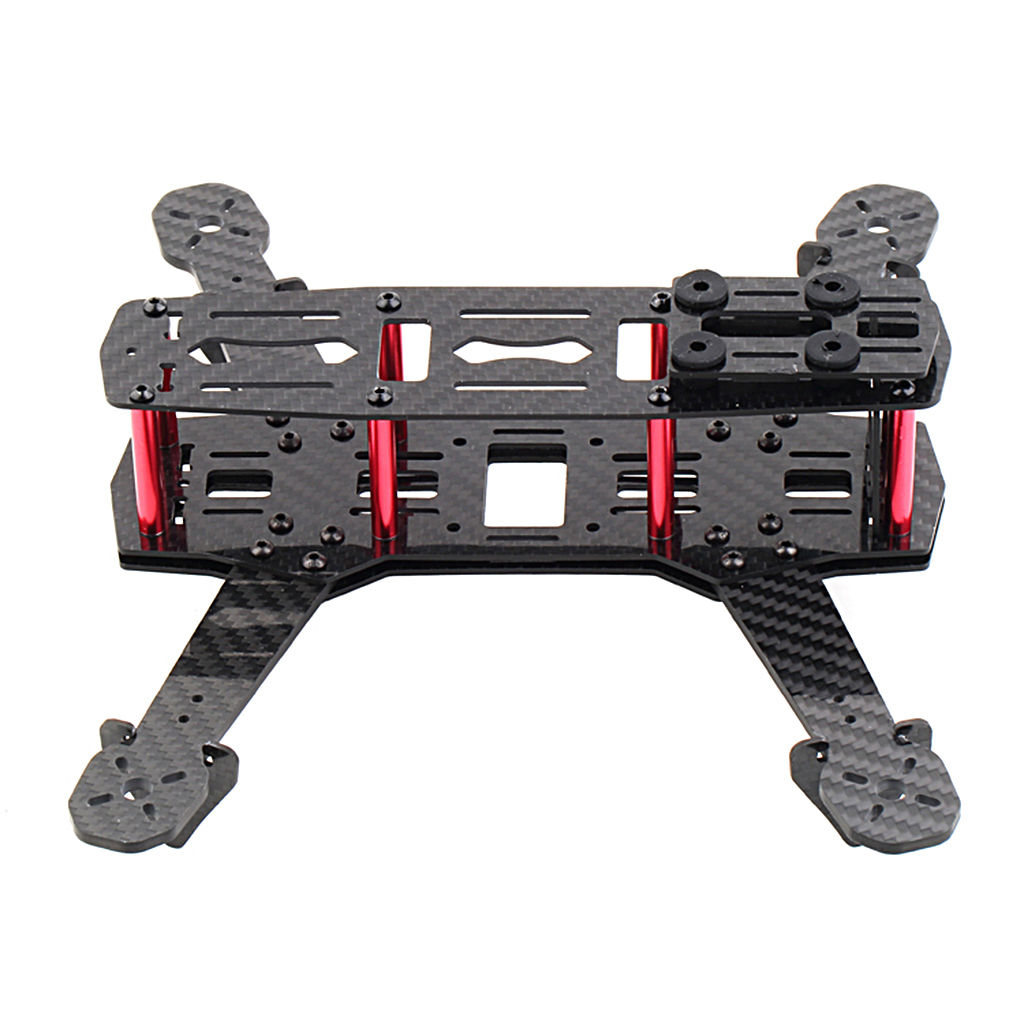 250mm Mini Multicopter Quadcopter <font><b>Racing</b></font> <font><b>Drone</b></font> Glassy Carbon Frame Kit <font><b>FPV</b></font> QAV image