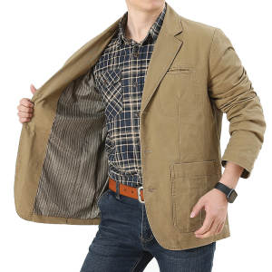 Pure cotton suit business in the autumn of 2019 young men leisure suit
