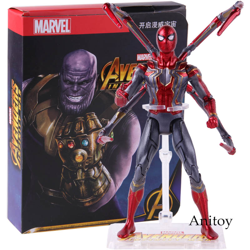 Marvel Avengers Infinity War Spiderman Action Figure Collectible Model Toy For Kids children GiftMarvel Avengers Infinity War Spiderman Action Figure Collectible Model Toy For Kids children Gift