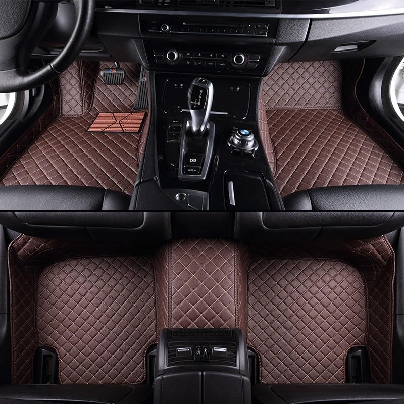 HLFNTF Custom car floor mats For Mitsubishi ASX Lancer Outlander Pajero V73 V97/V93 Grandis Eclipse galant FORTIS Auto floor mat custom fit car floor mats for mitsubishi lancer asx pajero v73 v93 3d car styling all weather carpet floor liner ry205