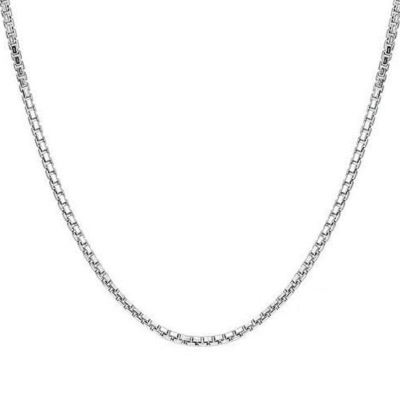 1,4 Mm Box Kette Halskette Anhänger Kette 60 Cm Lange Silber Überzogene Kette Mit Karabinerverschluss Frauen Schmuck Zubehör