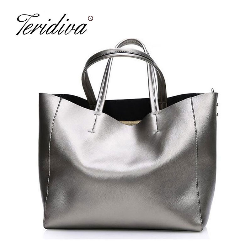 Teridiva American Luxury Genuine Leather Handbag Women Shoulder Bag Ladies Tote Bags Brand Designer Cowhide Crossbody bag new american luxury style 100% oil genuine leather women composite shoulder bag brand designer cowhide handbags tote li 1358
