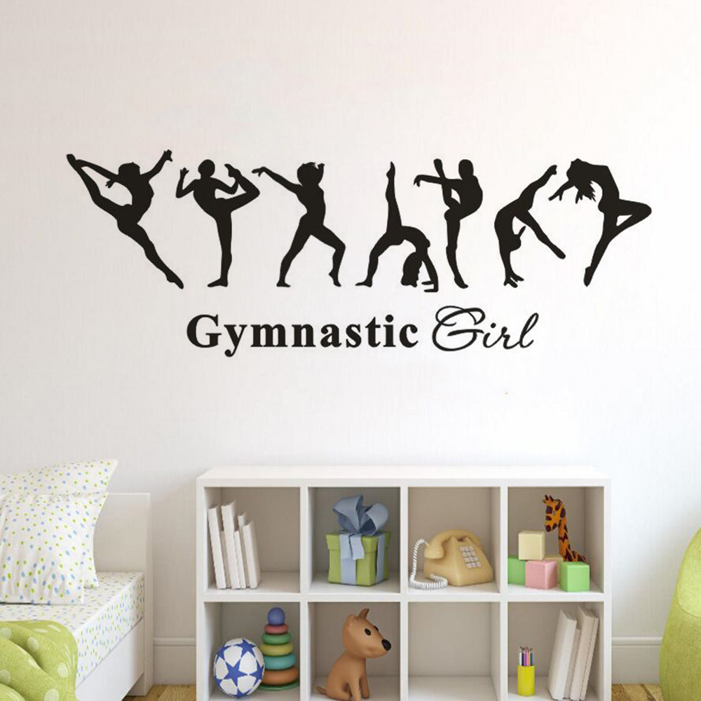 Creative 5 Gymnastics Pattern Dancing Wall Stickers Home Decor Wall Art Decal