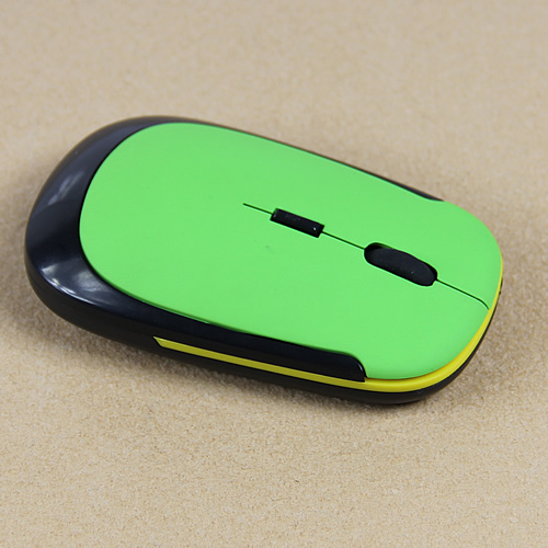 2019 New 2 4GHz Ultra Slim USB Wireless Cordless Optical Mouse Silver For PC font b