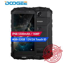 "DOOGEE S60 lite Waterpoof IP68 смартфон 4G 5,2 ""MT6750T Восьмиядерный Android 7,0 5580 мАч Беспроводной 12 В/2A 4G B + 32 ГБ 16.0MP face ID(China)"
